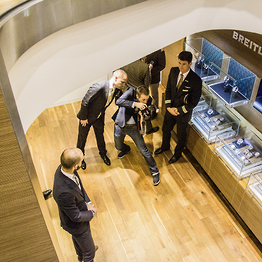 <p>Fotoshooting in der Londoner Breitling-Boutique.</p>